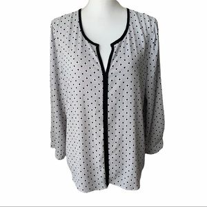 STITCH FIX 41Hawthorne Litton Split Neck Blouse